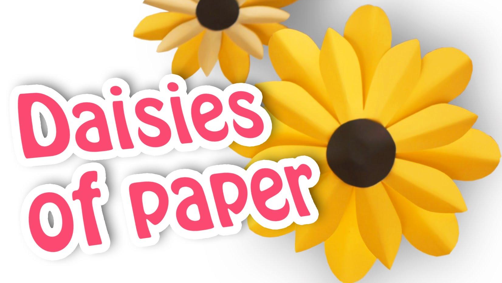 DIY crafts: PAPER FLOWERS daisies..