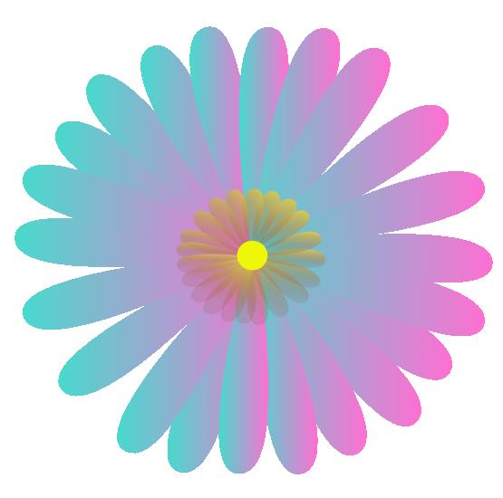 June Flower Clipart.