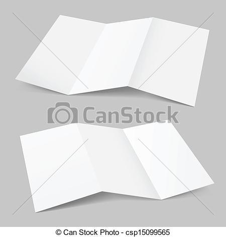 Clip Art Vector of Folded Paper. Illustration on white background.