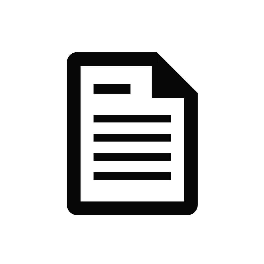 Document, file, page, paper icon.