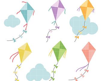 Kites clipart.