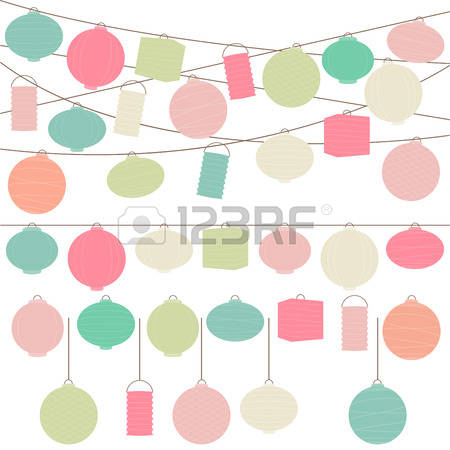 5,007 Paper Lantern Stock Vector Illustration And Royalty Free.