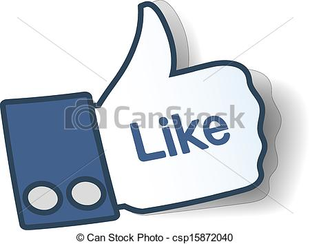 EPS Vector of Like sign. Thumbs up symbol from paper used in.