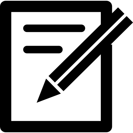 Paper and pen tools Icons.