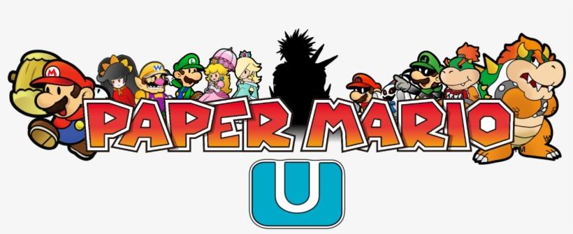 Paper Mario Wii U Logo.