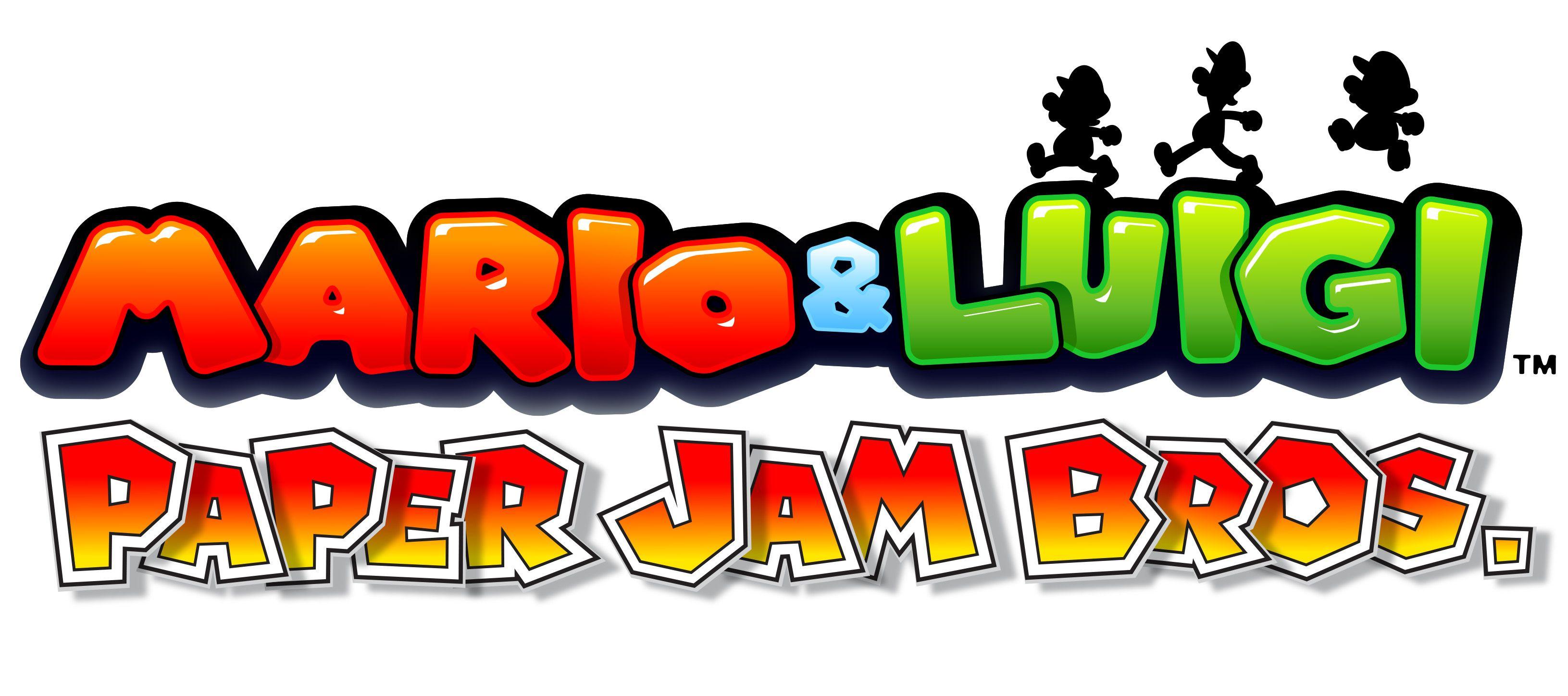 Mario & Luigi: Paper Jam Bros logo.