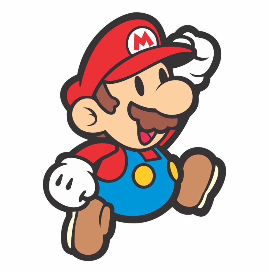 Super Mario Bros Cartoon Characters Vector.