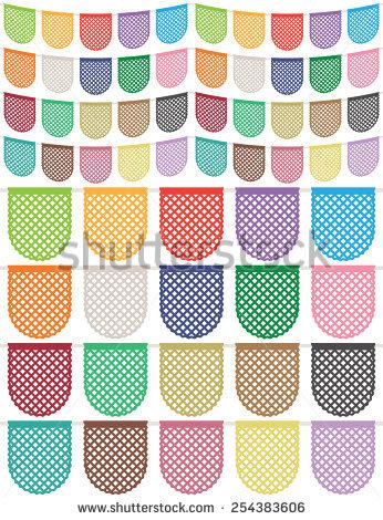 Mexican Paper Decoration Stock Vectors & Vector Clip Art.