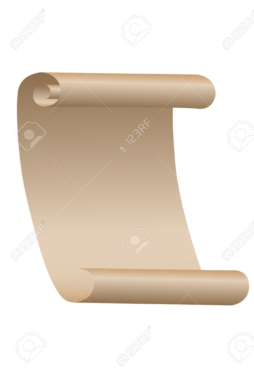The Paper Roll. A Vector. Without Mesh. Royalty Free Cliparts.