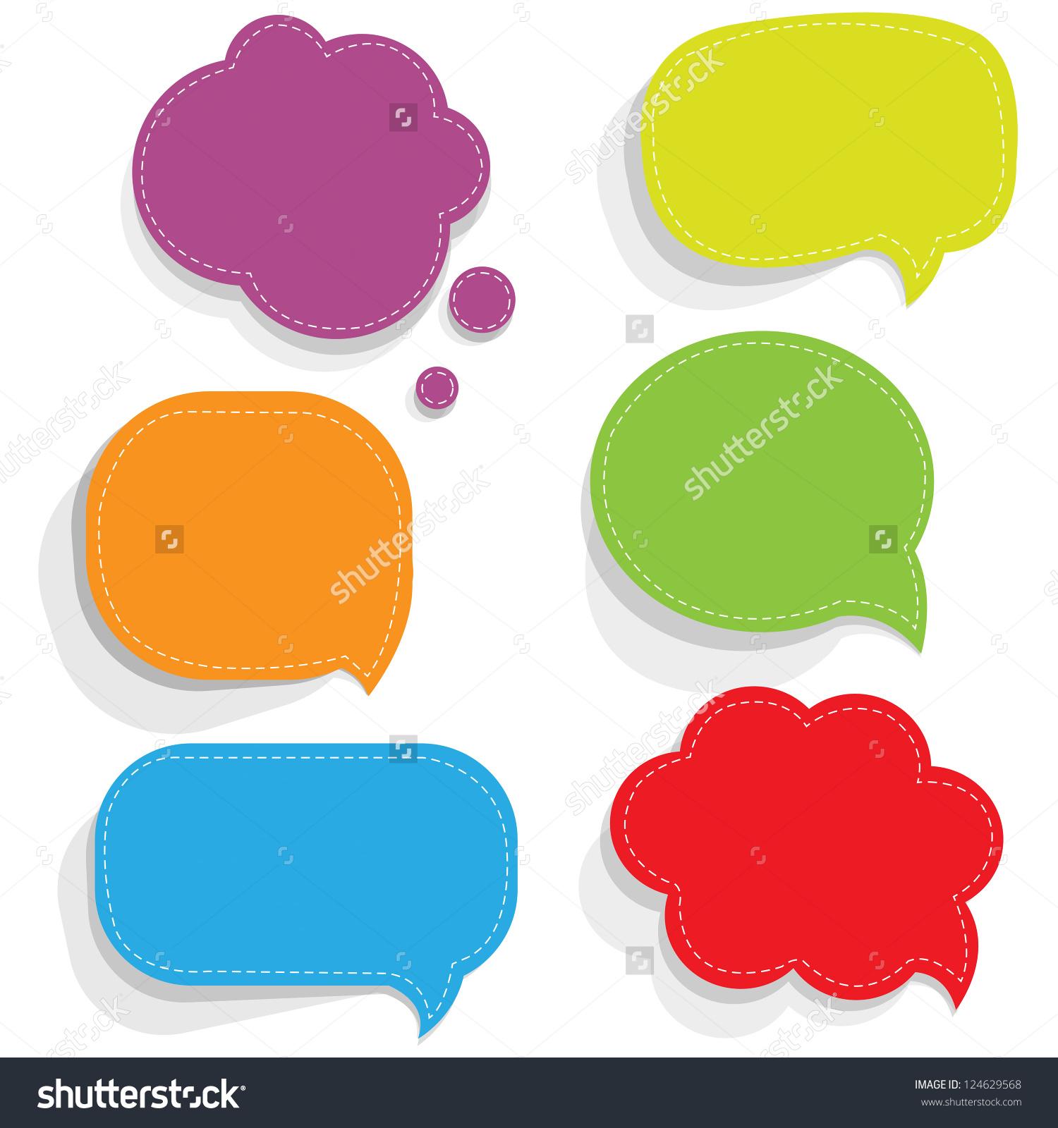 Color Paper Speech Bubbles Gradient Mesh Stock Vector 124629568.