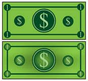 Paper Money Cartoon Stock Photography.