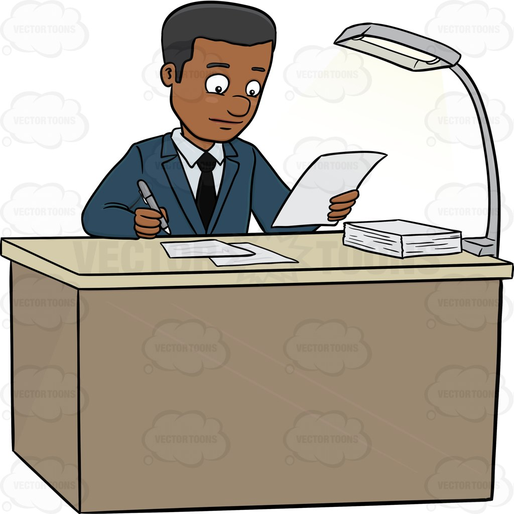 A Male Executive Signing Papers On The Table.