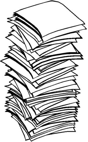 Paper clipart paper pile.