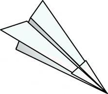 Paper Plane Clip Art.