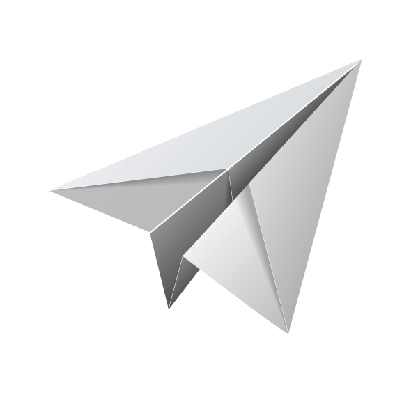 White Paper Plane PNG Image.