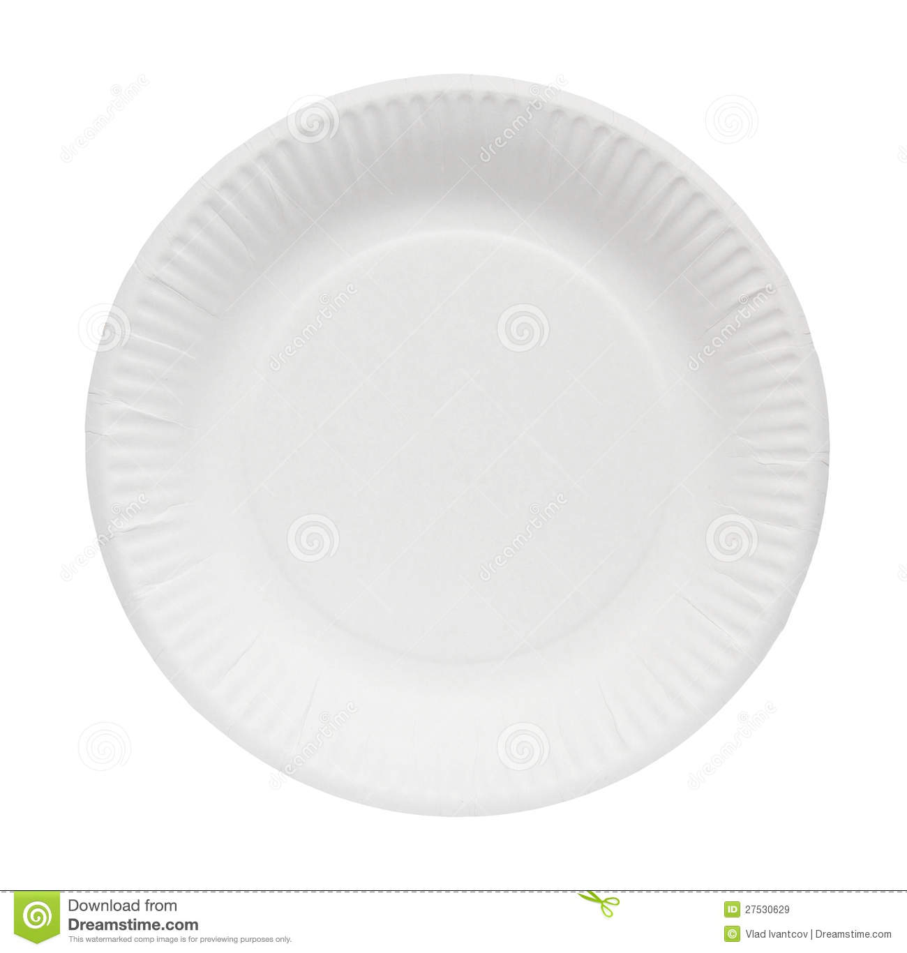 Paper Plate. Royalty Free Stock Images.