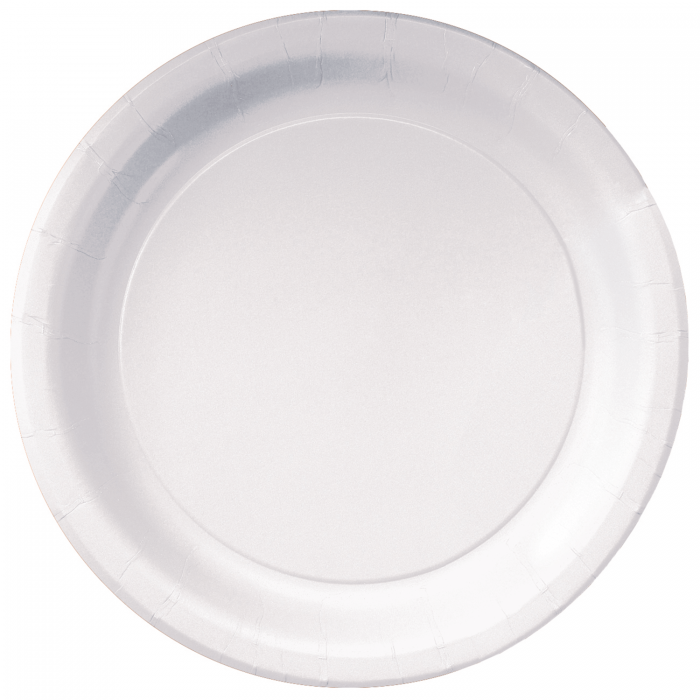 9 in White Paper Plates 500 ct..