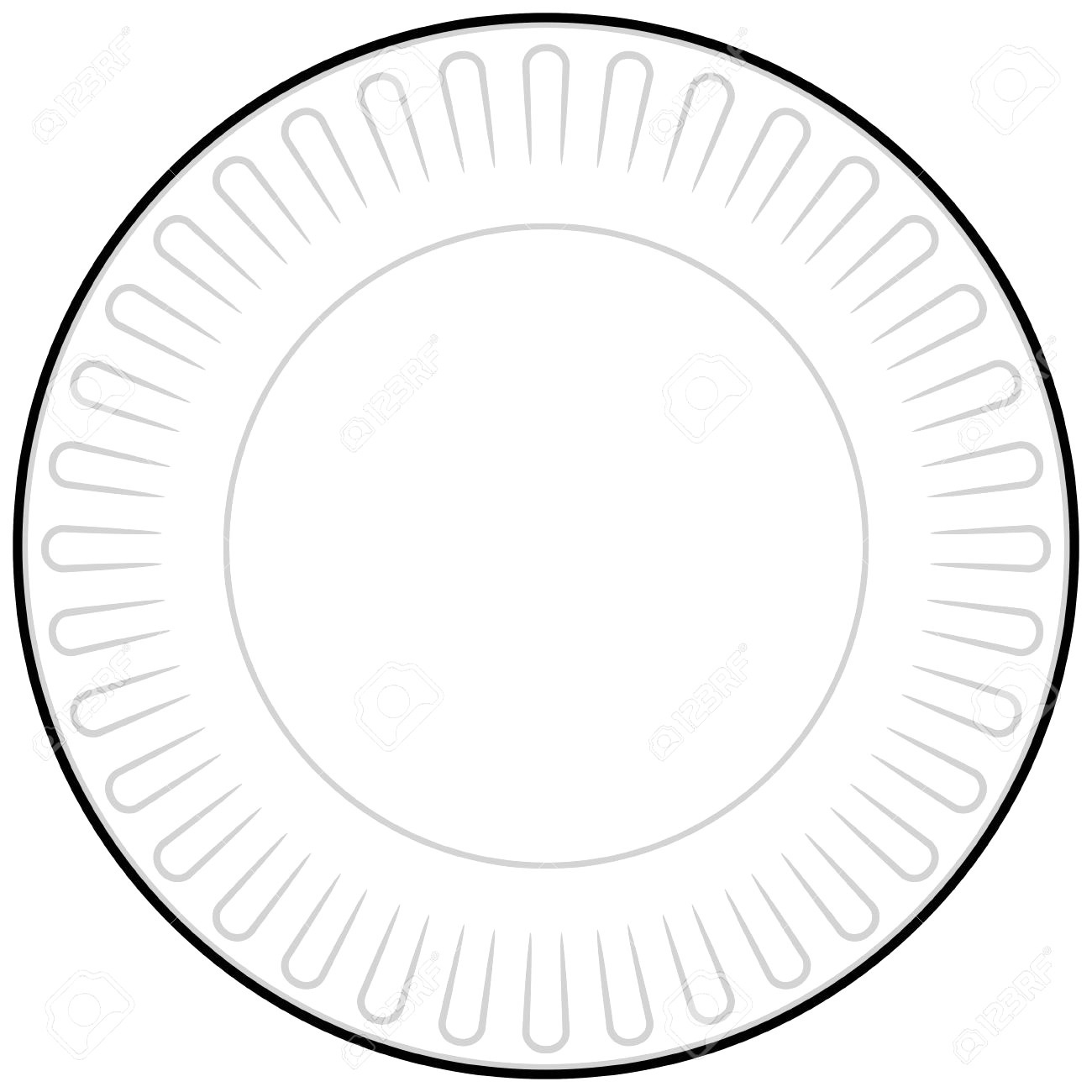 Paper Plate Clipart.