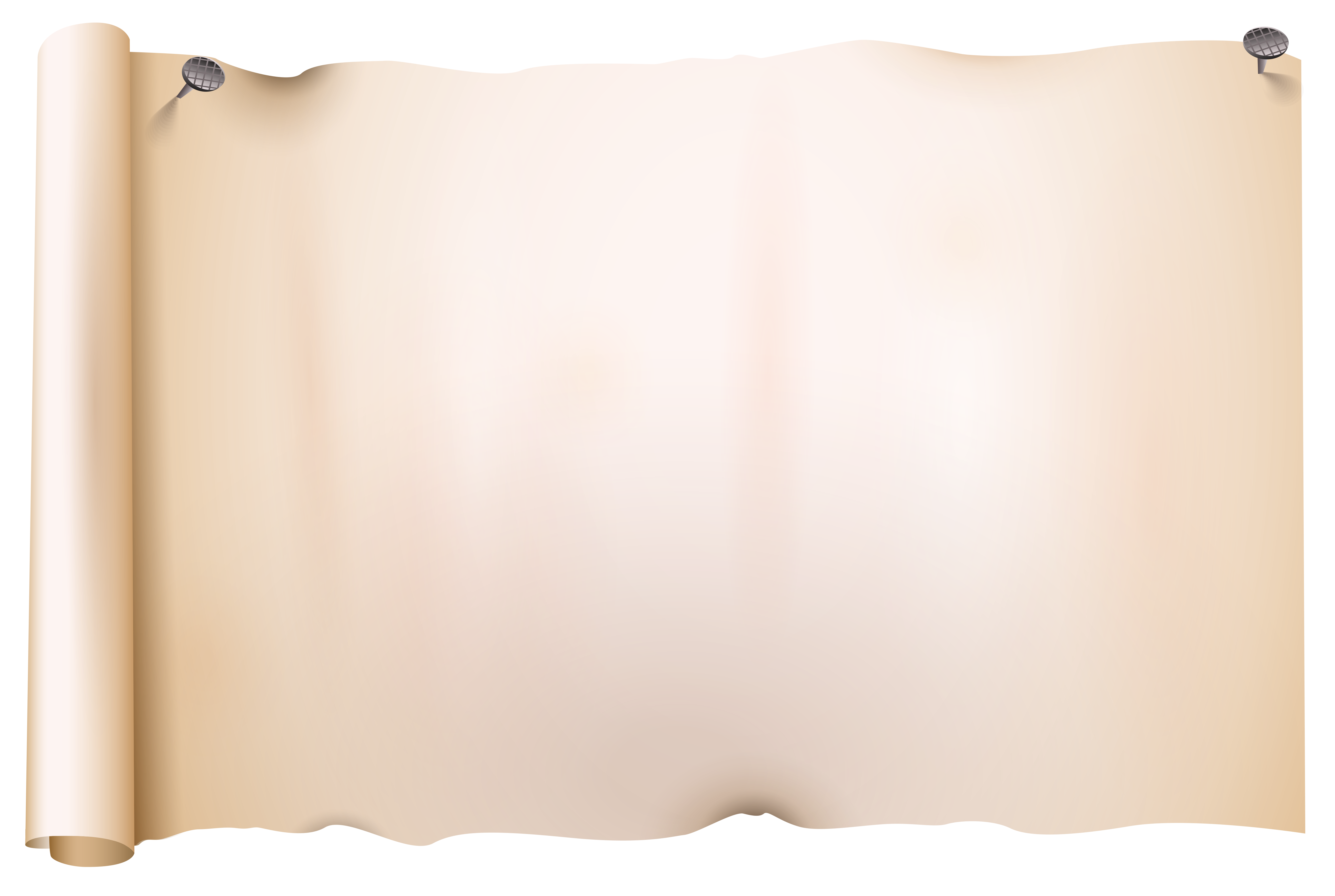 Old Scroll Paper PNG Clipart Image.