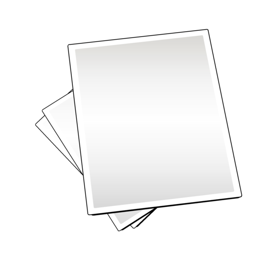 Free Paper Sheets Clipart Image.