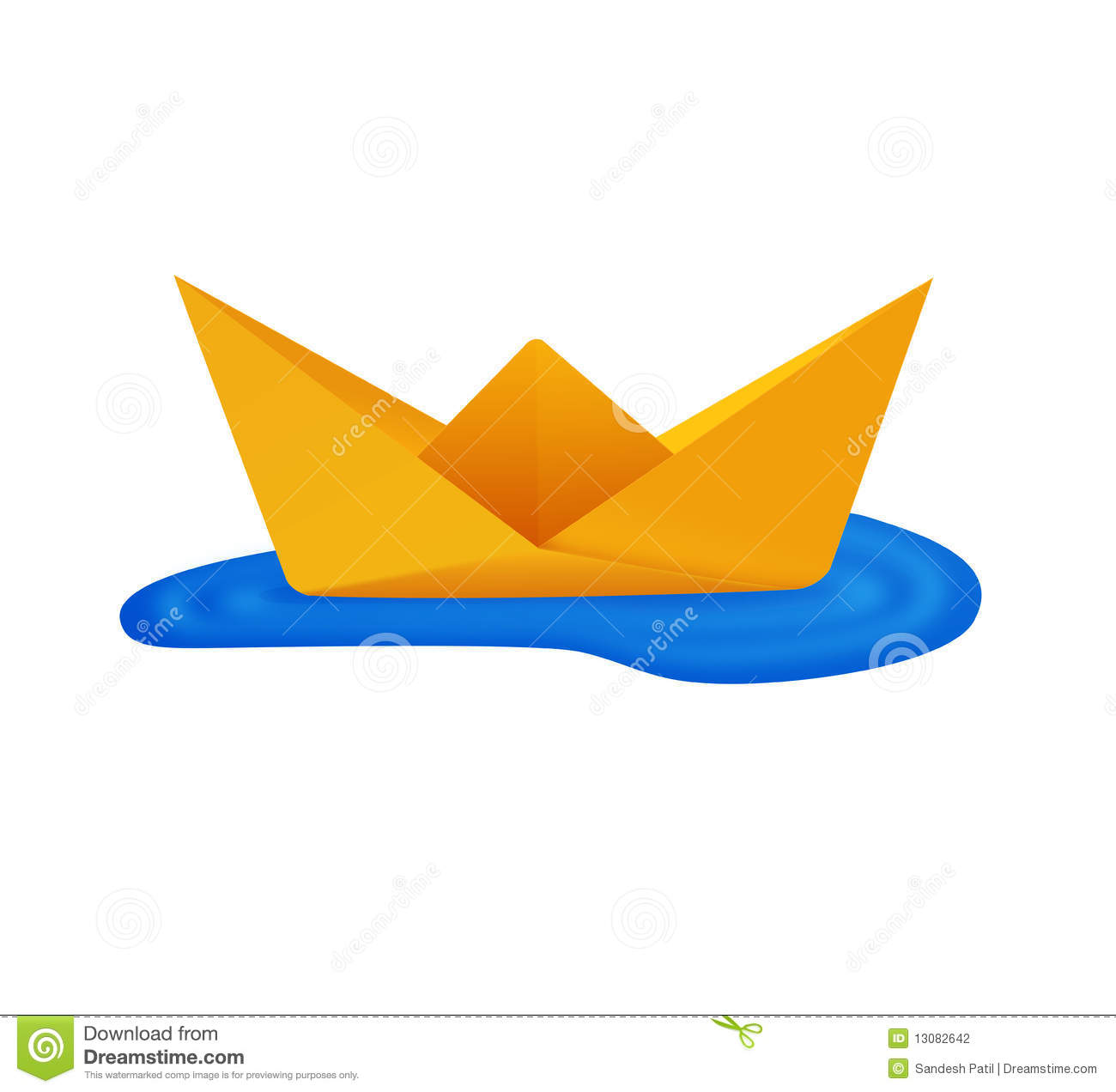 Paper Boat Origami Stock Photography.