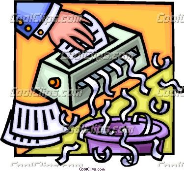 Paper shredder clip art.