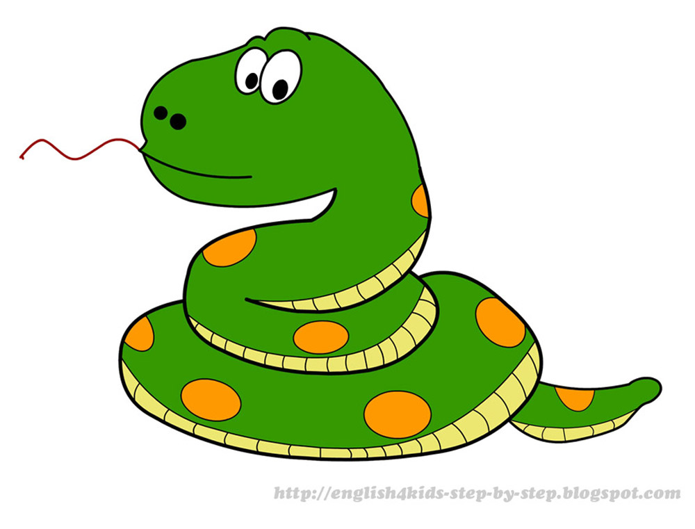 Cartoon snake clipart.