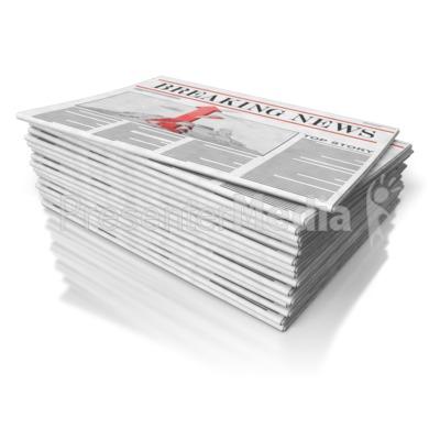 Newspaper Stack.