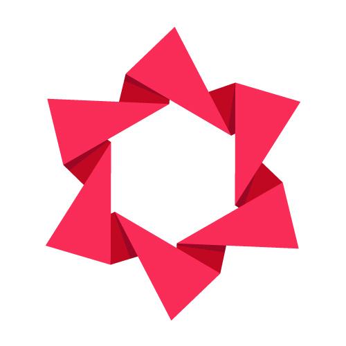 Vector Folded Paper Star.