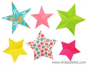 Folding Paper Stars Craft.