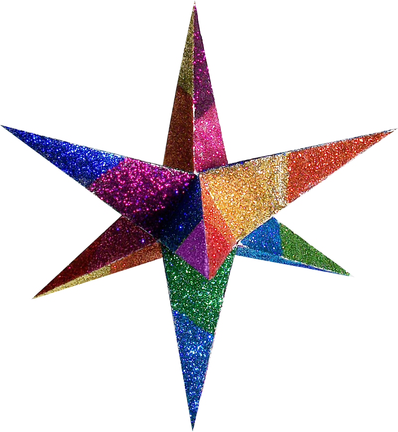 Color Moravian Stars And Decorative 3D Paper