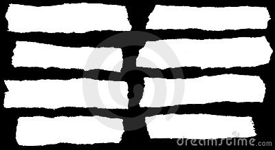 White Torn Paper On Black Stock Photography.