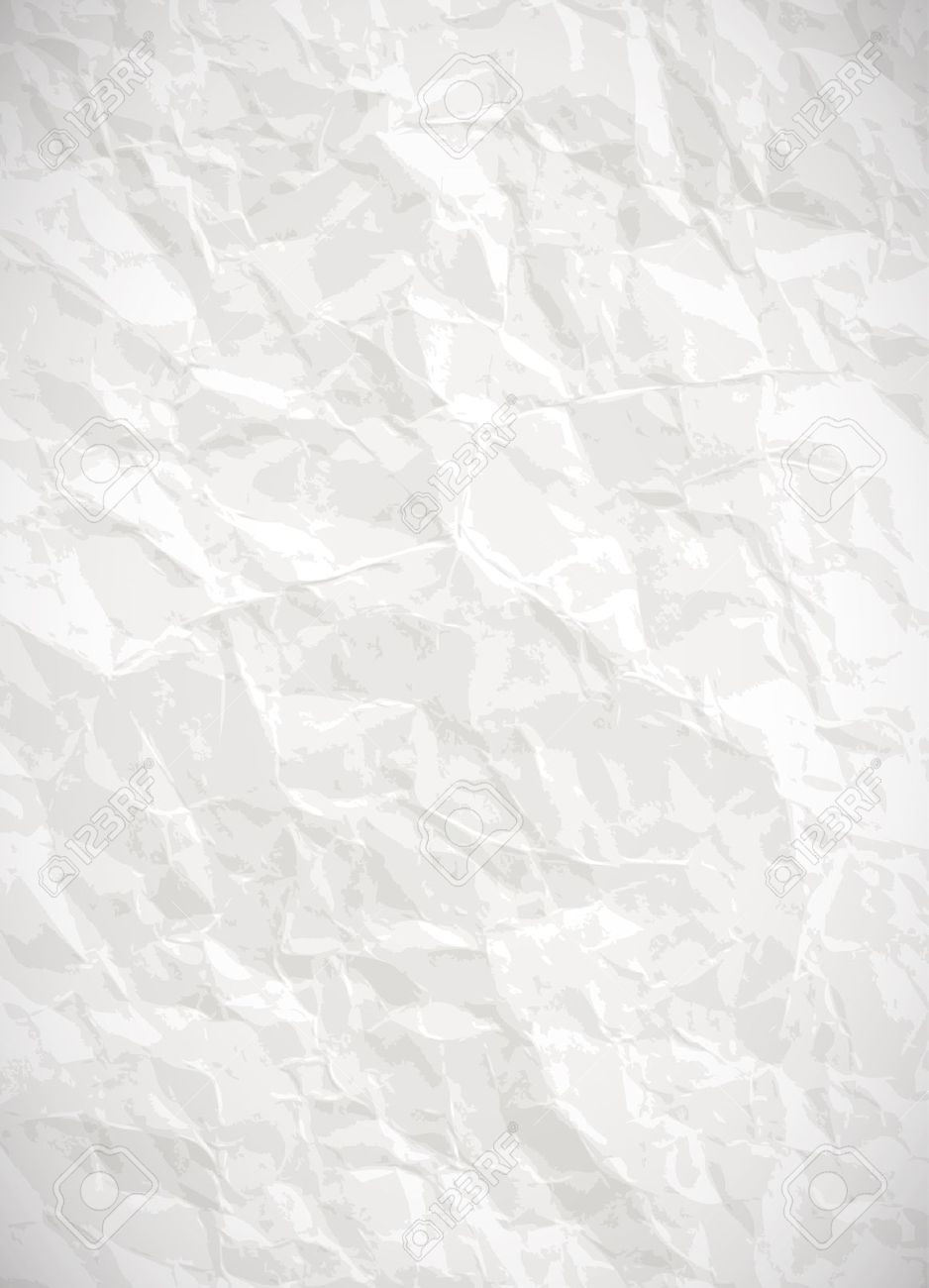 Crinkled paper clipart background.