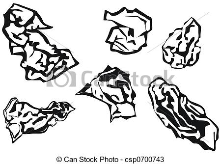 Drawings of Waste paper balls csp0700743.
