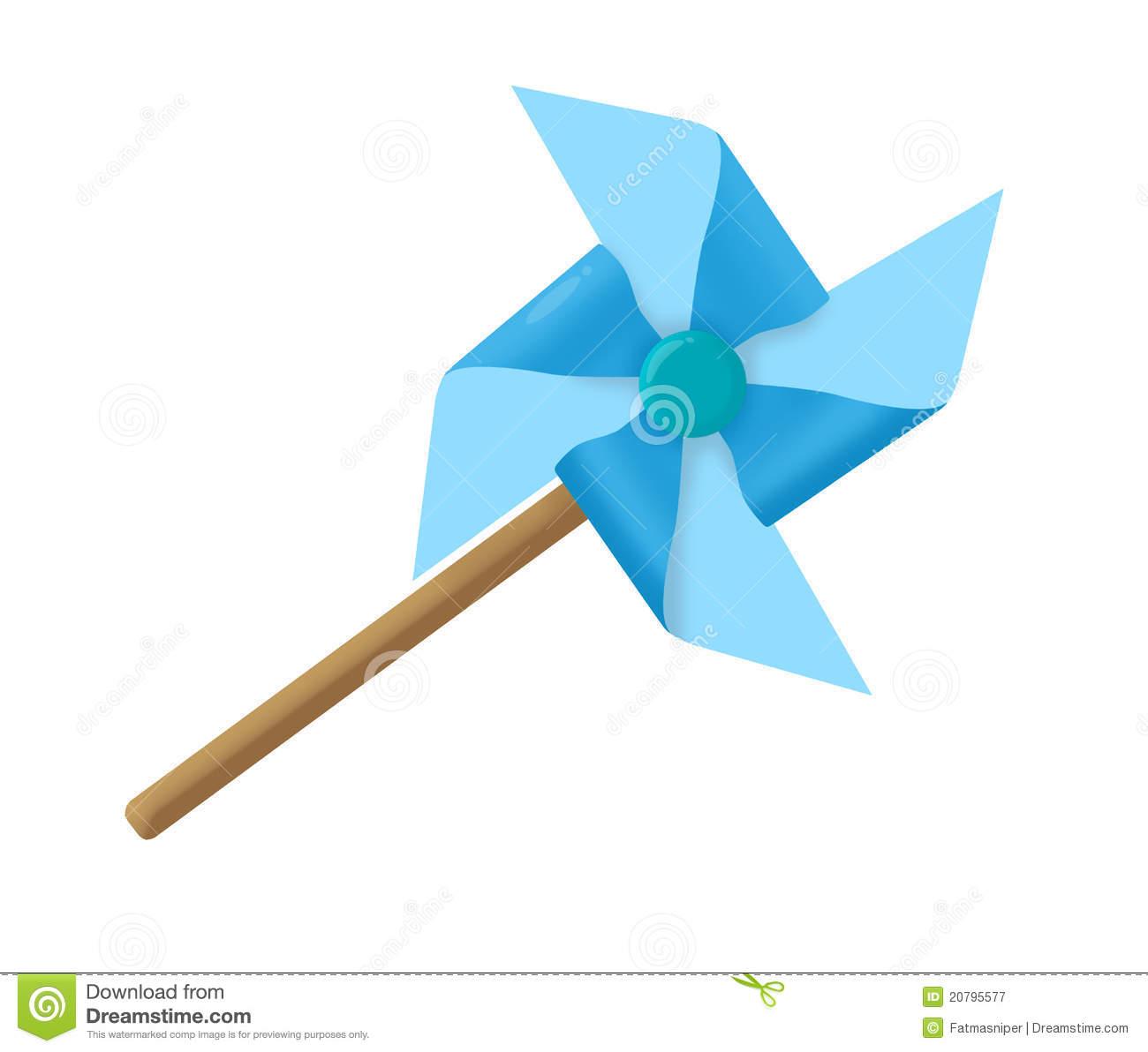 Paper Windmill Clip Art.
