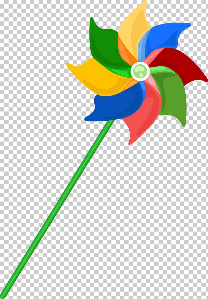 Paper Pinwheel, windmill PNG clipart.