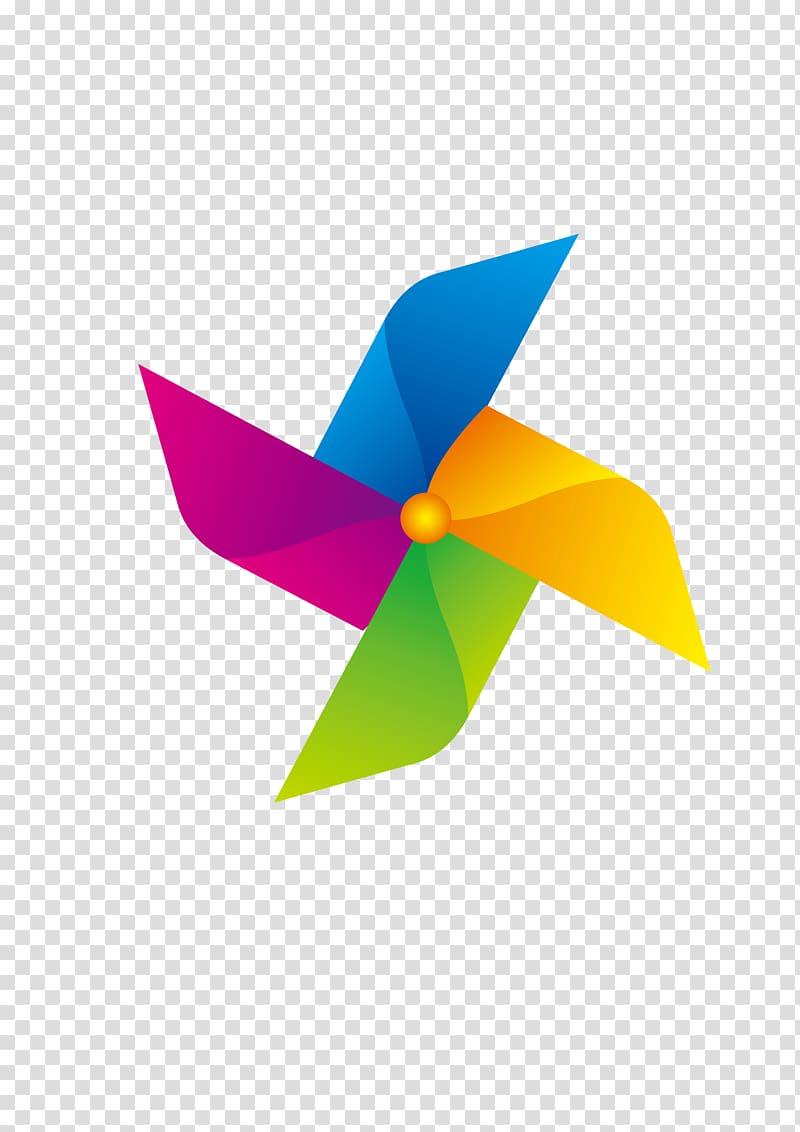 Google logo, Paper Pinwheel Windmill, Colorful Windmill Toys.