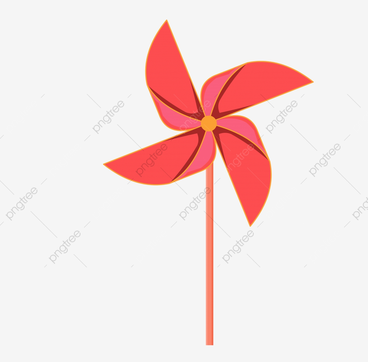 Simple Wind Paper Windmill Element Design, Minimalism, Paper.