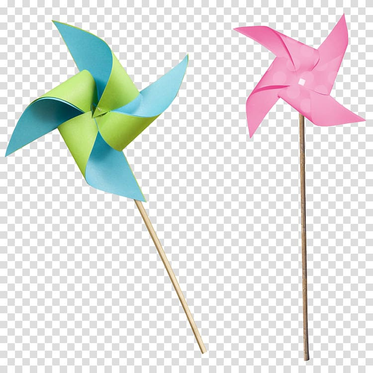 Paper Pinwheel , windmill transparent background PNG clipart.