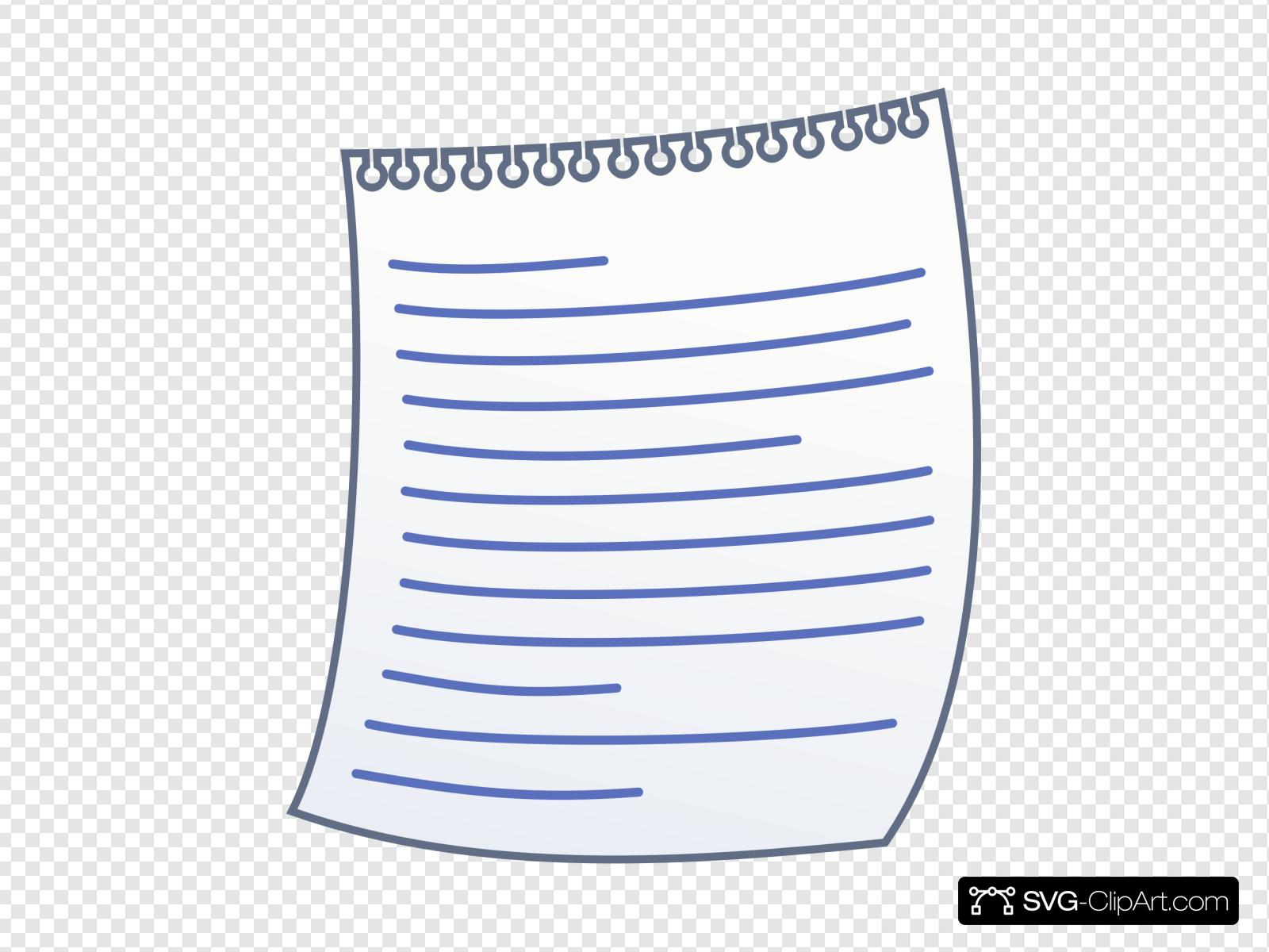 Paper With Writing Clip art, Icon and SVG.