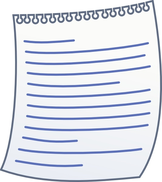 Paper With Writing clip art Free vector in Open office.