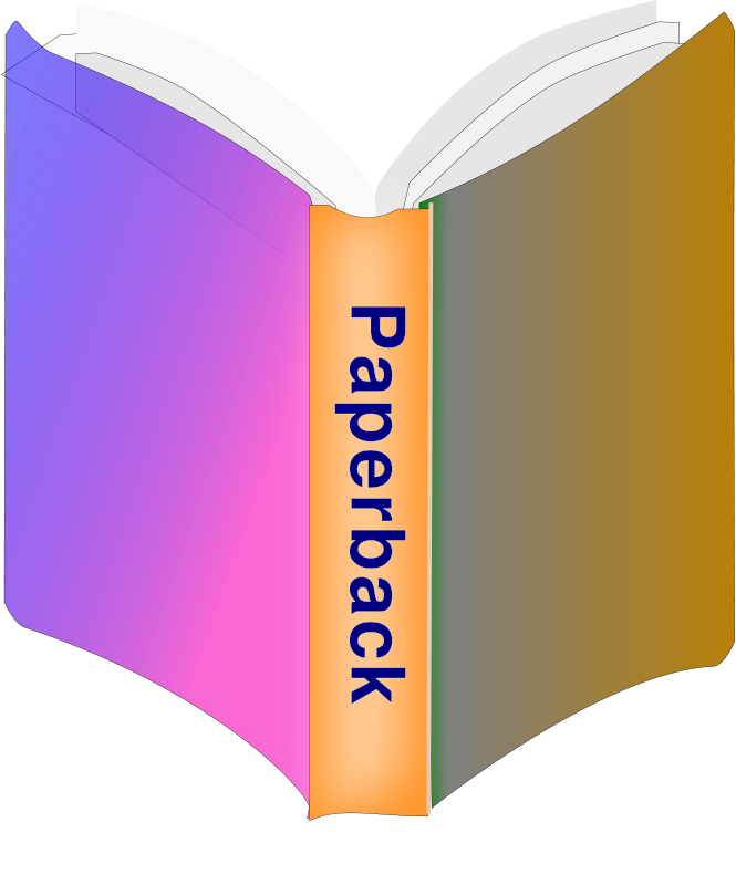 Free Clipart: Paperback Book Icon.