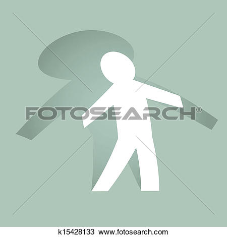Clipart of Standing paperman k15428133.