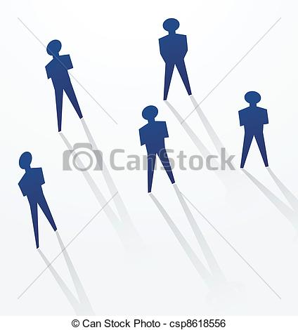 Clip Art Vector of paper man selfishness concepts.