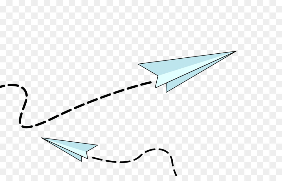 Paper Airplane Flying Clipart.