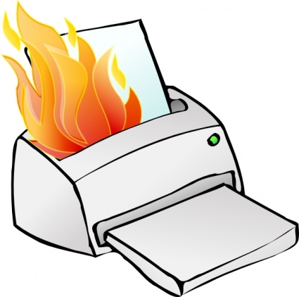 Papers On Fire Clipart.