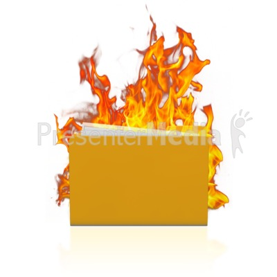 Notebook On Fire.