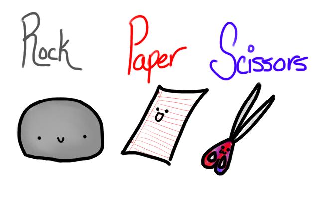 Rock paper scissors clip art.
