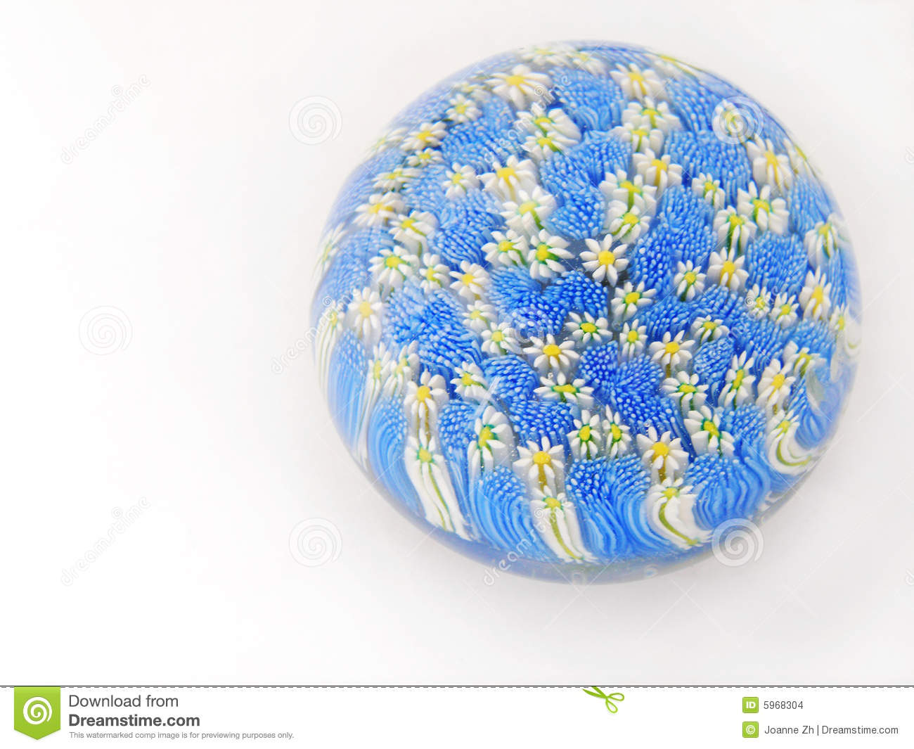 Glass Paperweight, Christmas Theme Royalty Free Stock Photos.