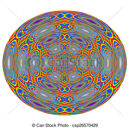 Clip Art of Colorful abstract paperweight.